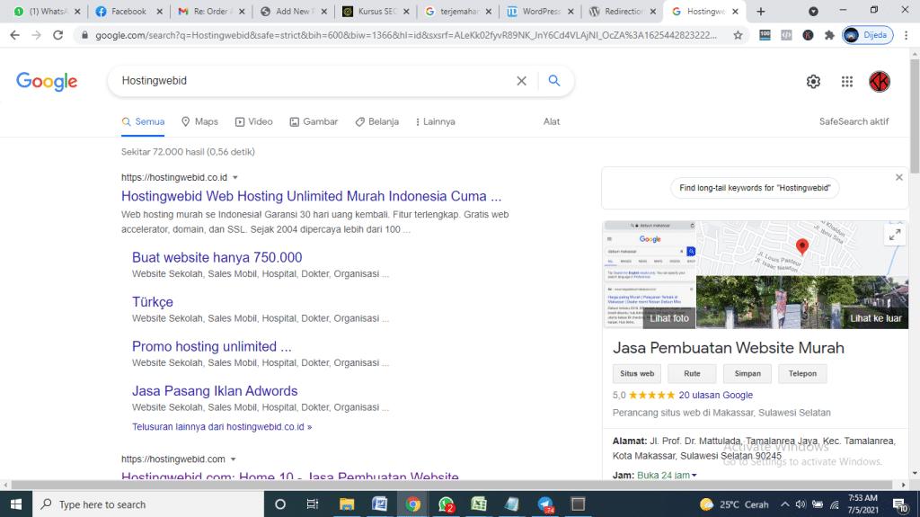 Jasa pembuatan website Makassar CV. Hostingwebid