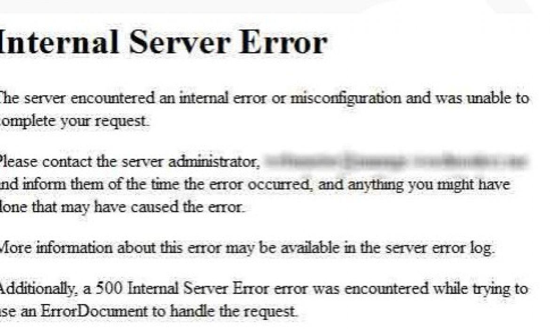Mengatasi Internal Server Error | Jasa Pembuatan Website Terpercaya